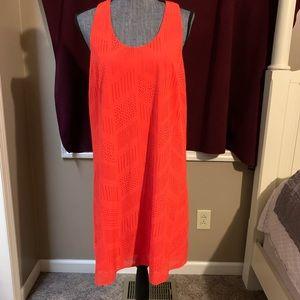 Athleta • Orange Laser Cut Dress